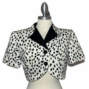 Black and White Dots Cropped Shrug Jacket Size 2P